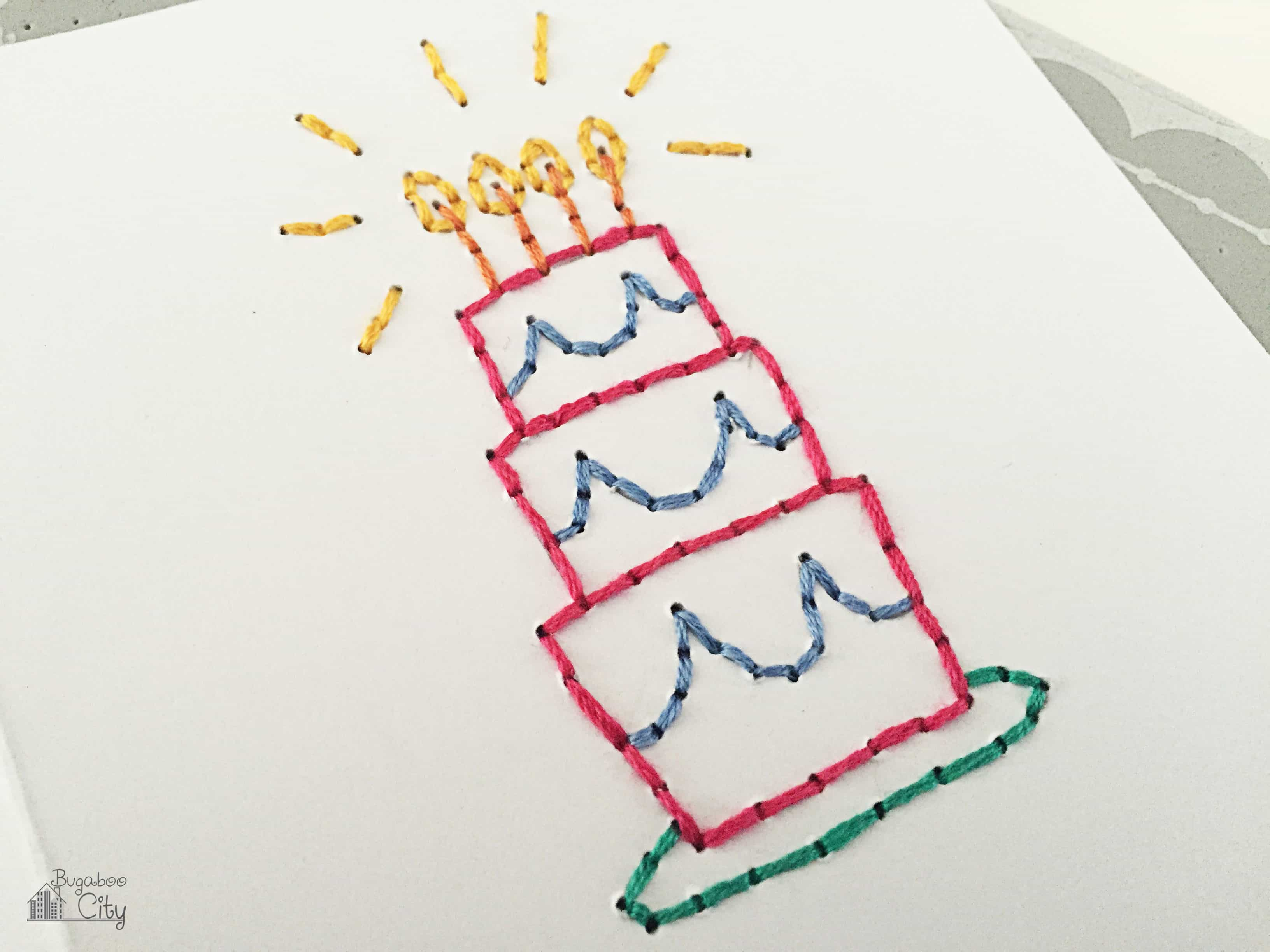 Diy Embroidered Cards Bugaboocity