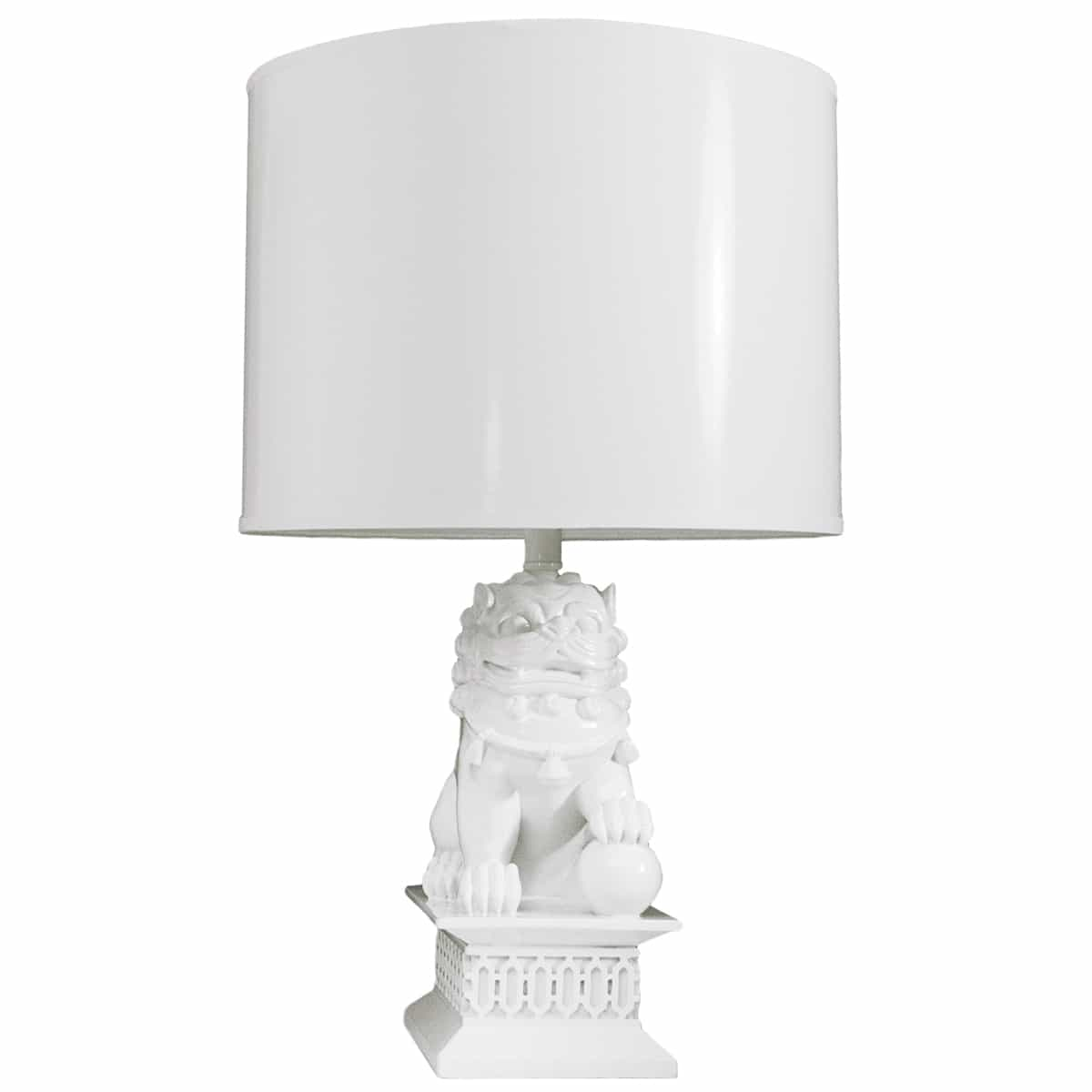 the look for less diy jonathan adler lamp  bugaboocity - foo dogs white table lamp designed by barbara cosgrove
