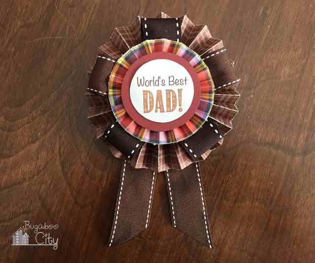 Father's Day Paper Medallion Tutorial