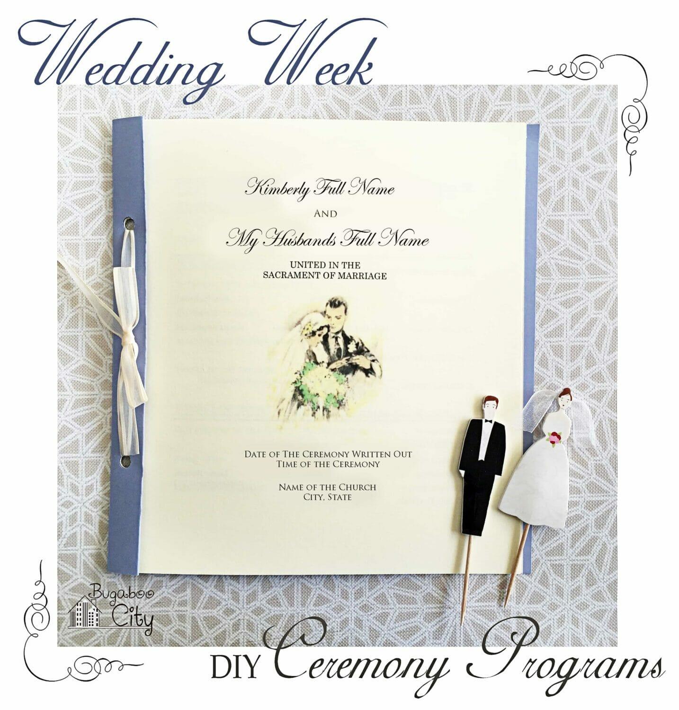 diy wedding ceremony programs bugaboocity