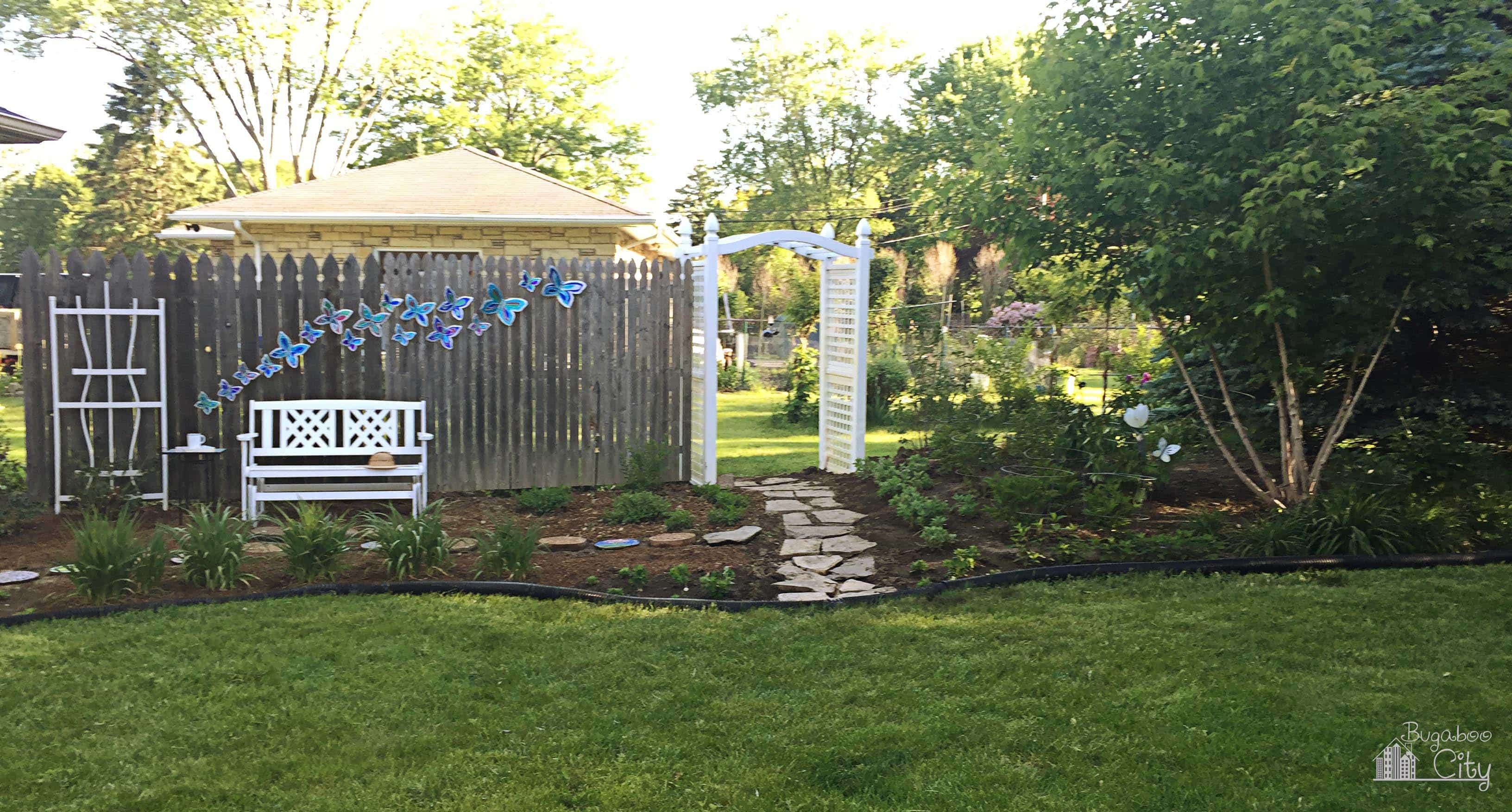 Diy Butterfly Garden Ornament Bugaboocity Fence 16 2 New Lawn Tutorial