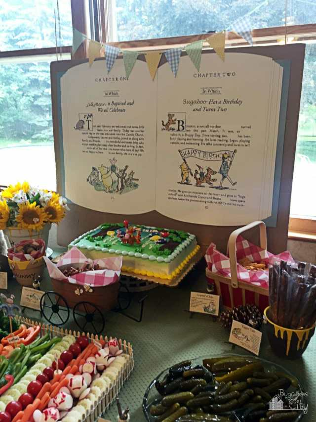Winnie the Pooh-Themed Party Food Table