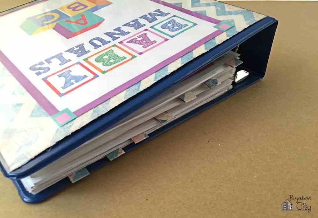 Baby Manuals Binder Free Printables 5