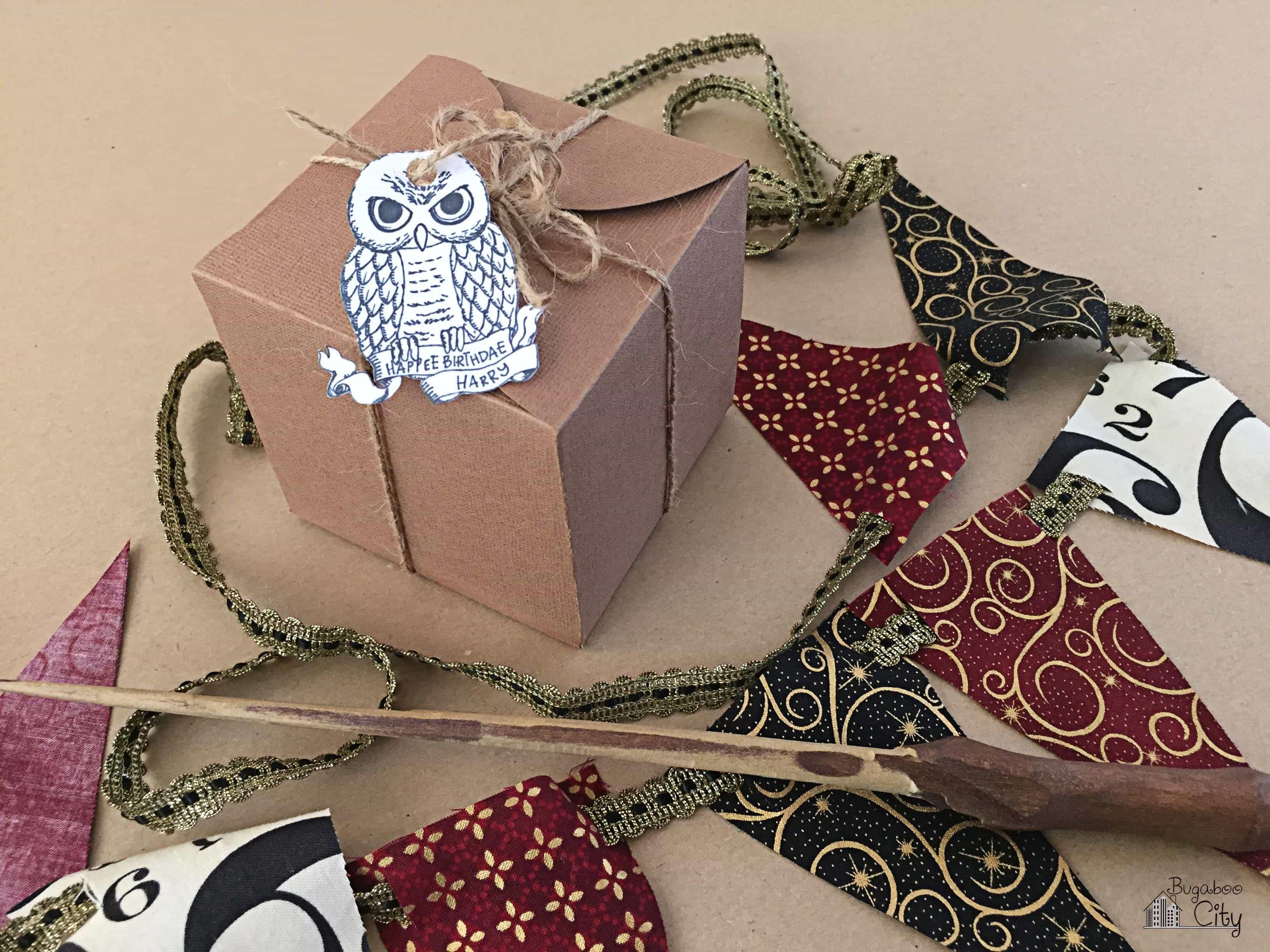 Harry Potter Birthday Cupcake Treat Box - Free Printable