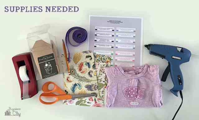 Baby Shower Onesie Gift Tutorial with Free Fortune Cookie Printable