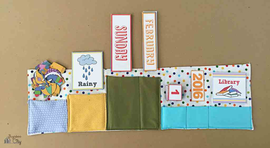 DIY Toddler Calendar Fabric Magnet Holder