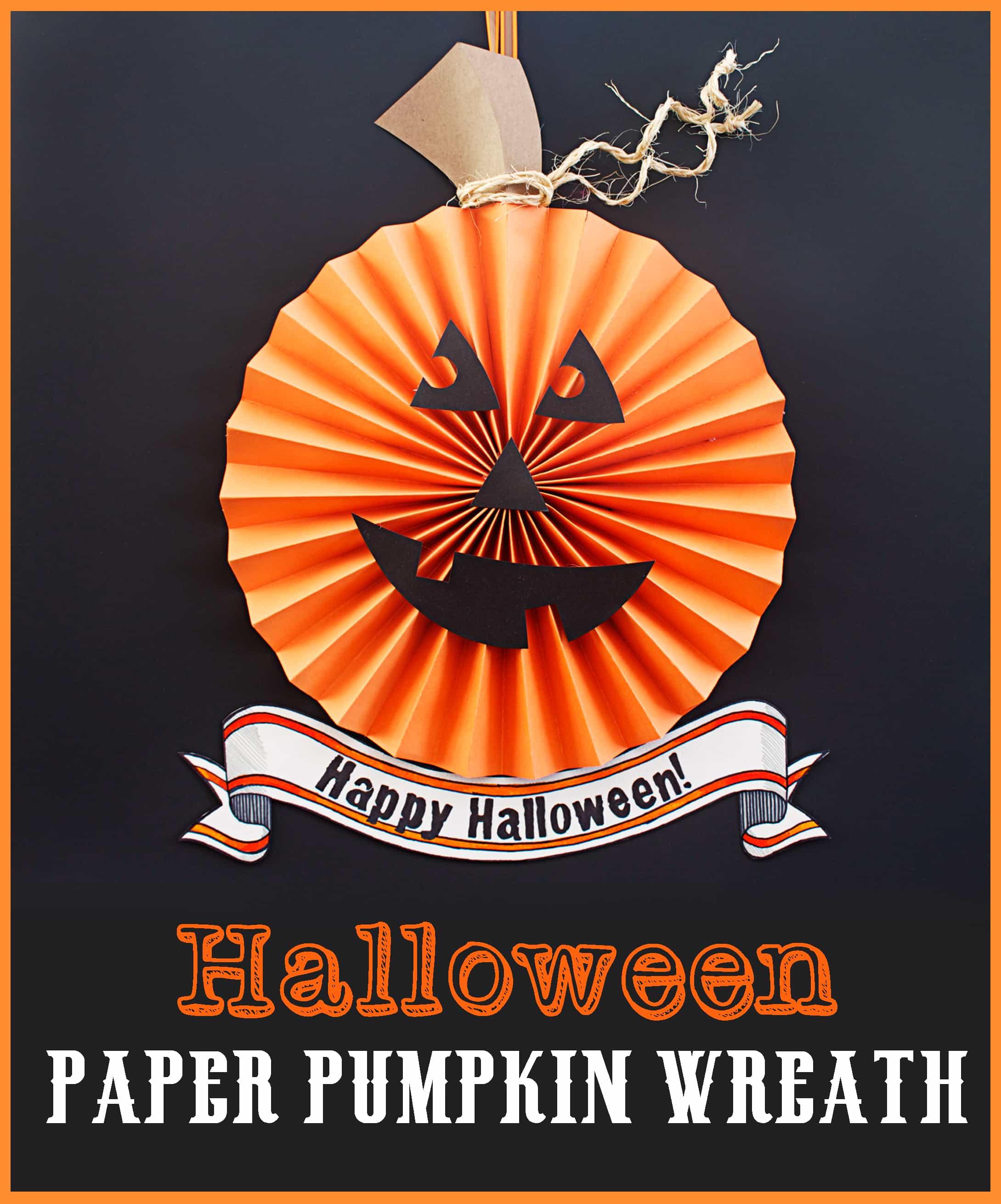 halloween pumpkin paper wreath bugaboocity