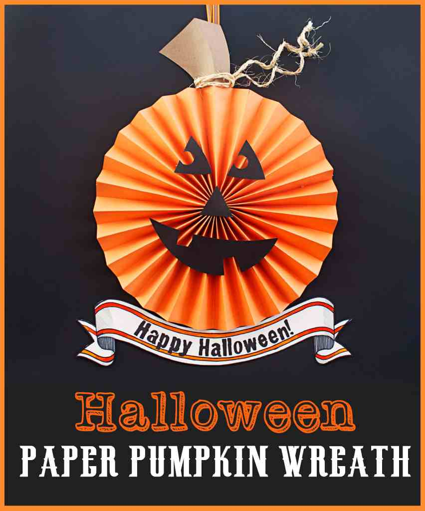 Halloween Paper Pumpkin Wreath Tutorial new