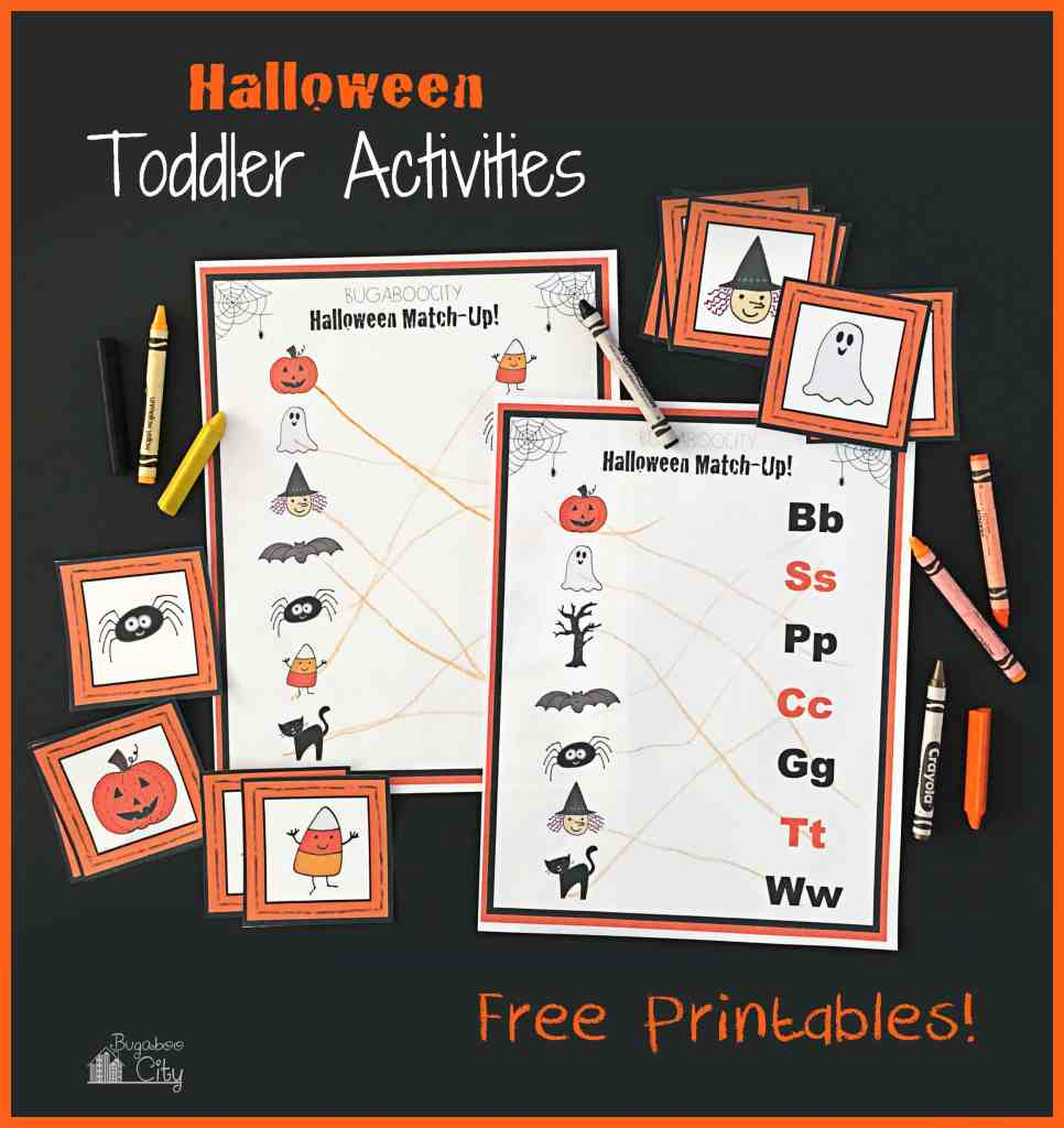 Toddler Halloween Activities with Free Printables