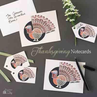 Thanksgiving Turkey Notecards
