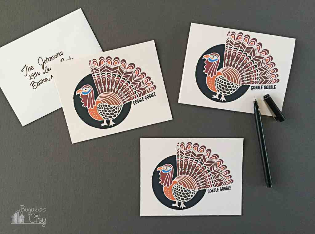 Thanksgiving Turkey Notecards and Tags Free Printables