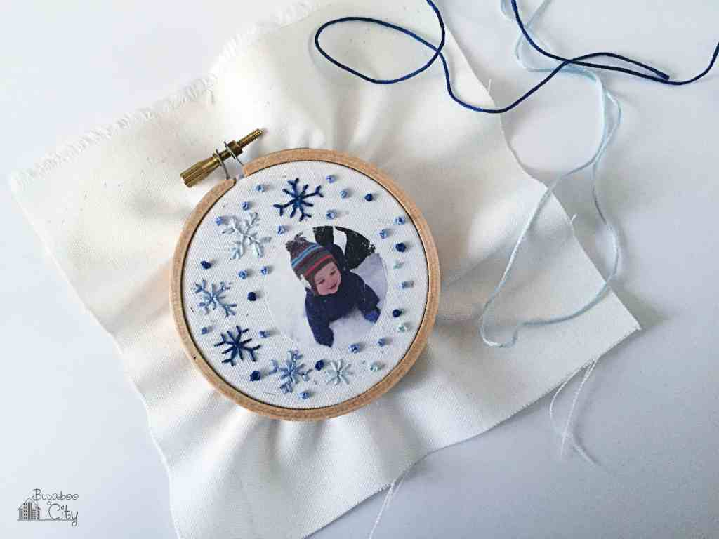 Diy embroidered photo ornaments bugaboocity