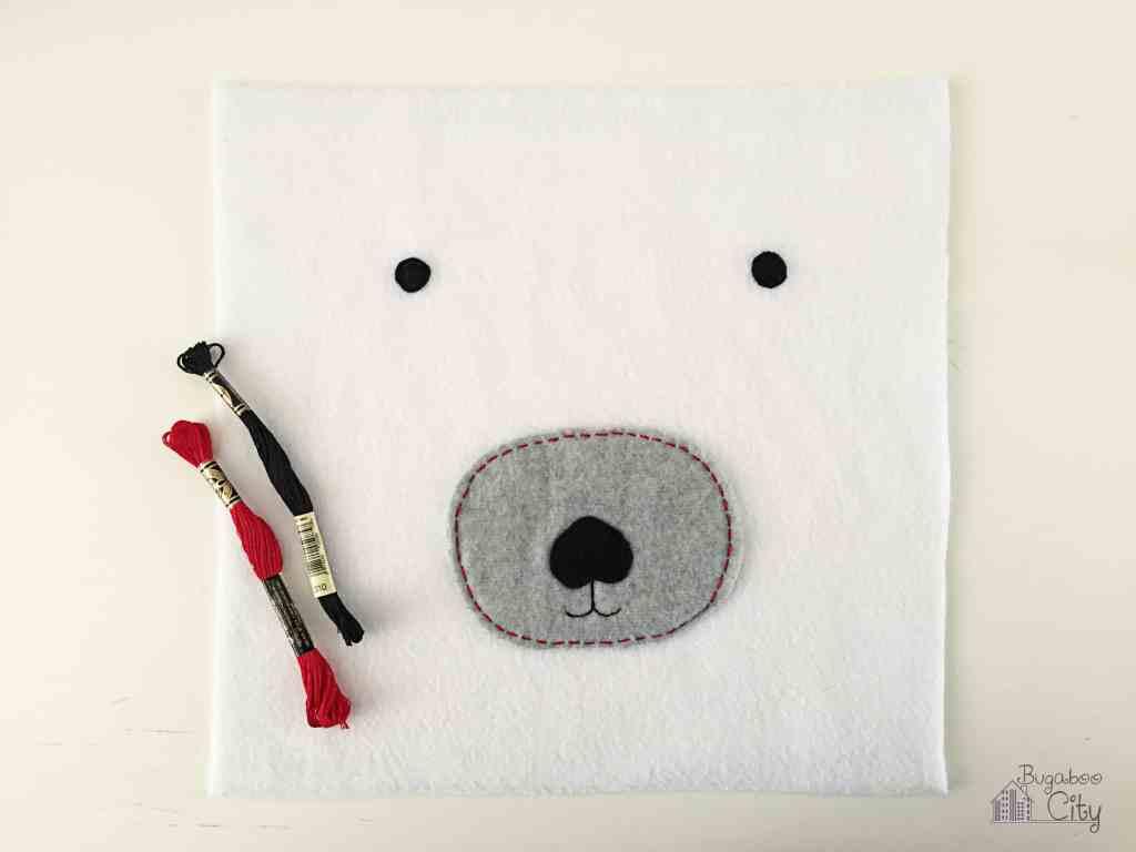 DIY Polar Bear Holiday Pillow 1