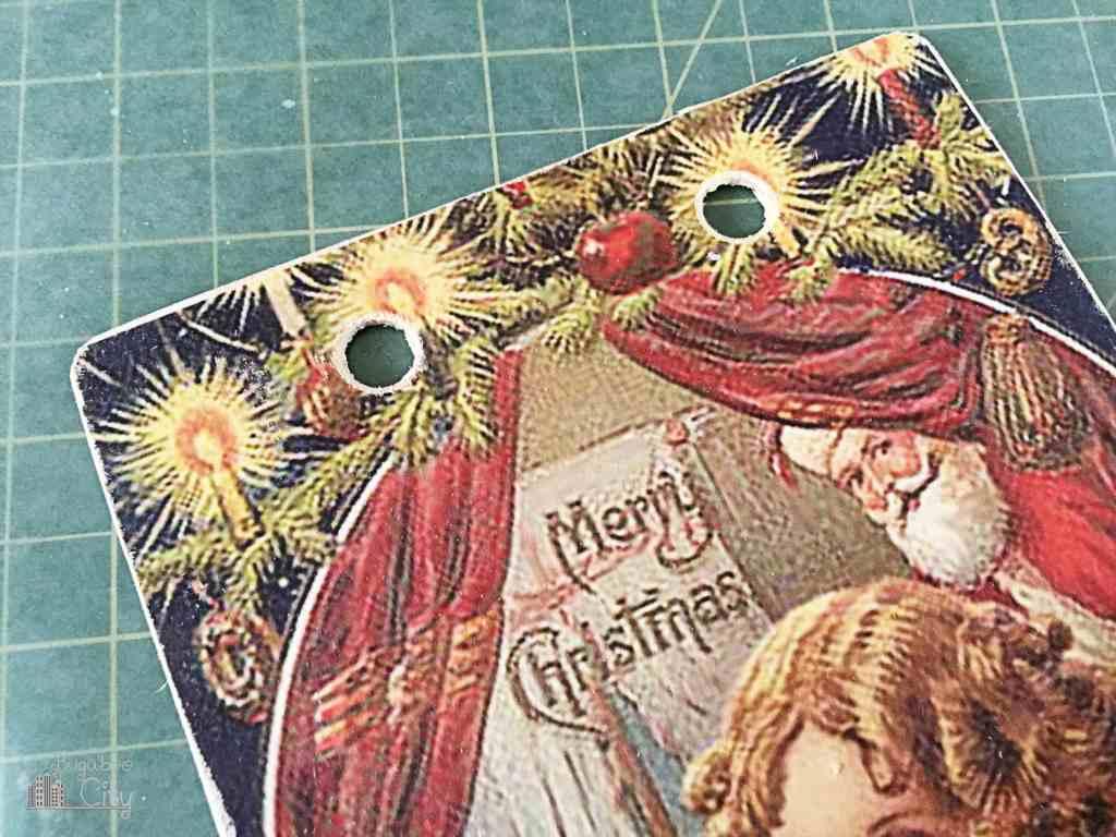 DIY Vintage Christmas Banner