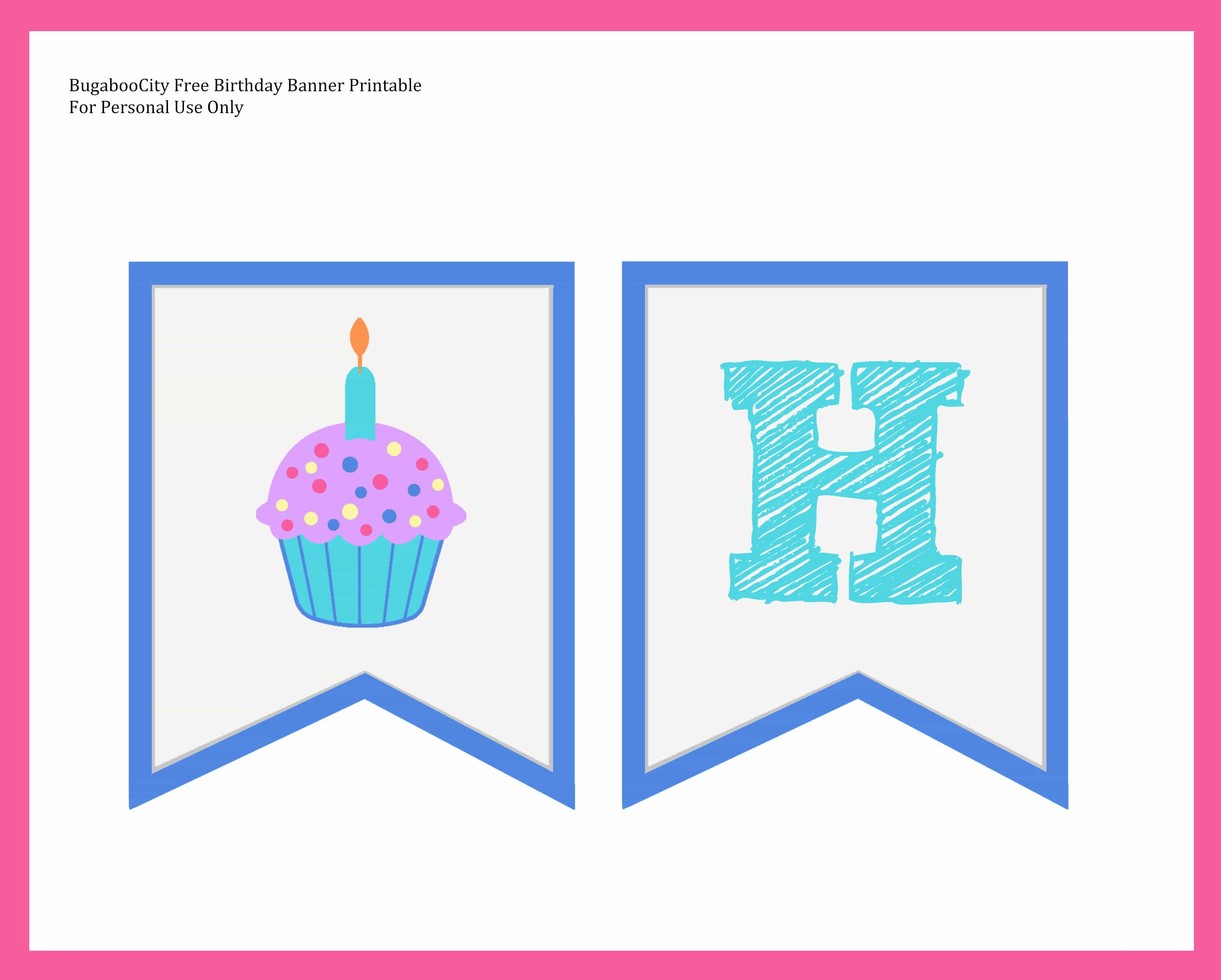 Free birthday banner images - Microsoft Word Bugaboocitybirthdaybanner Docx