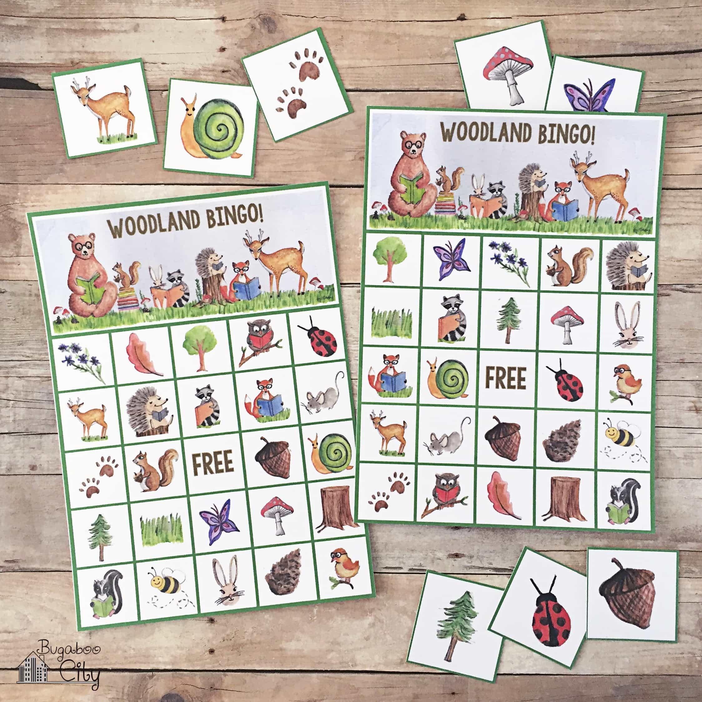picture regarding Animal Bingo Printable referred to as woodland animal bingo playing cards craftgawker