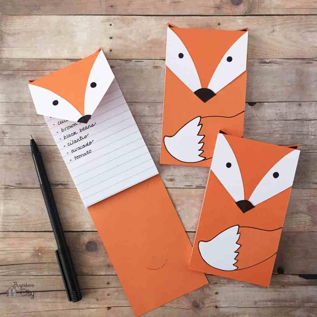 DIY Fox Notepads