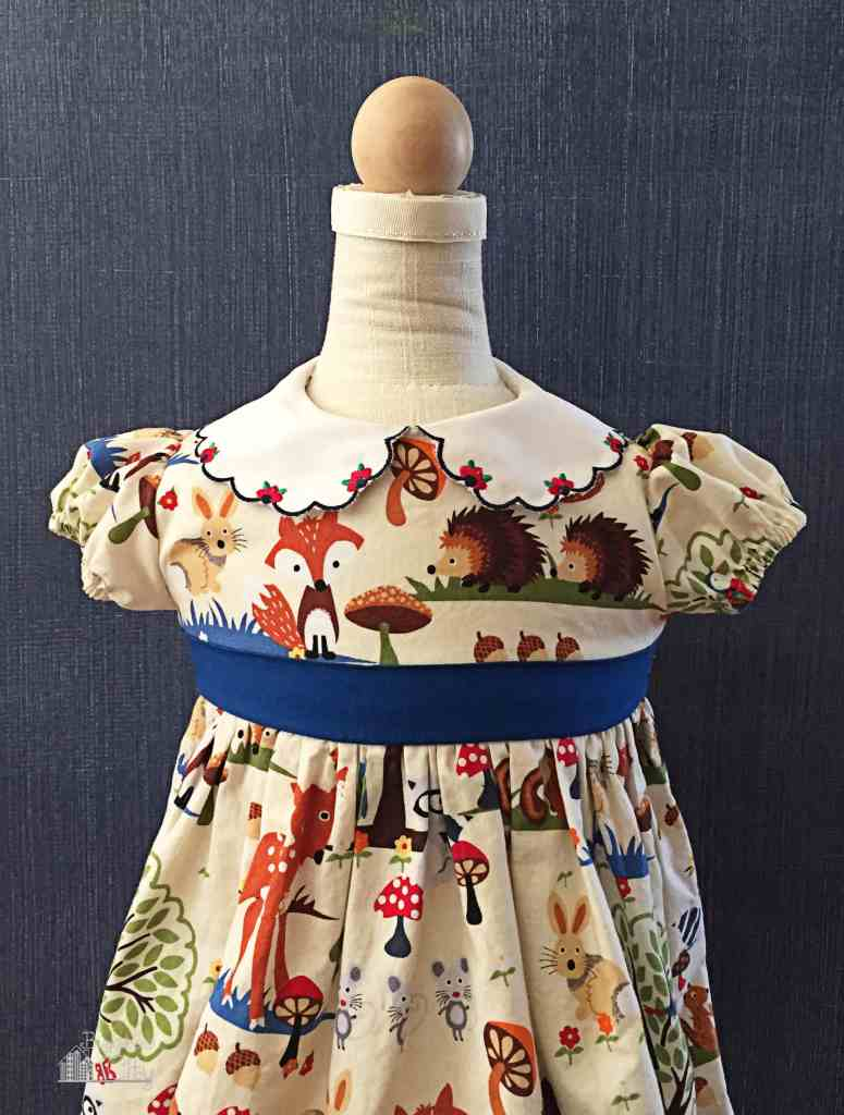 The dress I made for Jellybean's first birthday party.