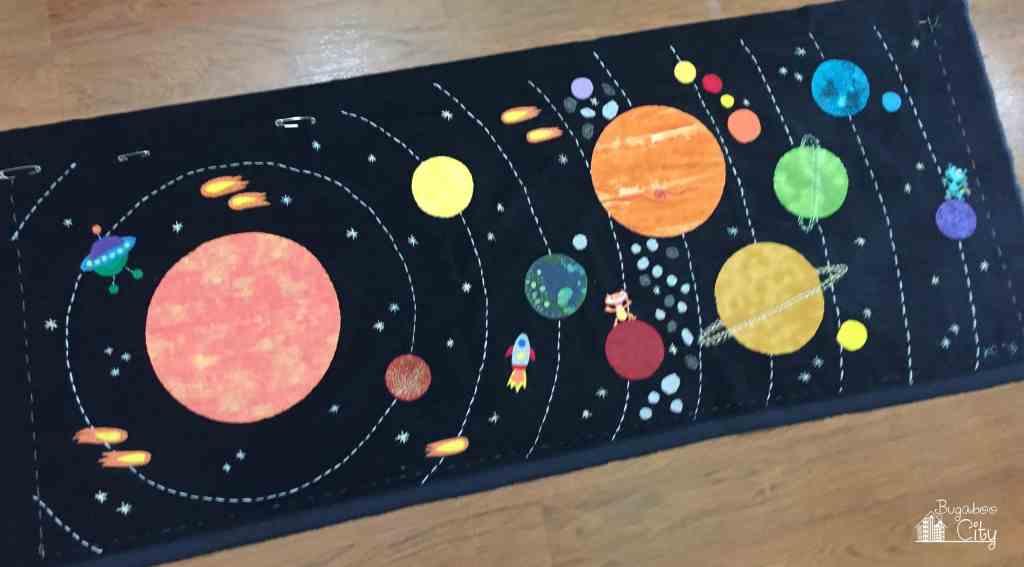 DIY Solar System Pillow