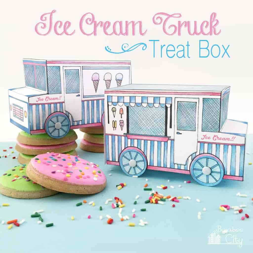 Ice Cream Truck Free Printable Treat Box