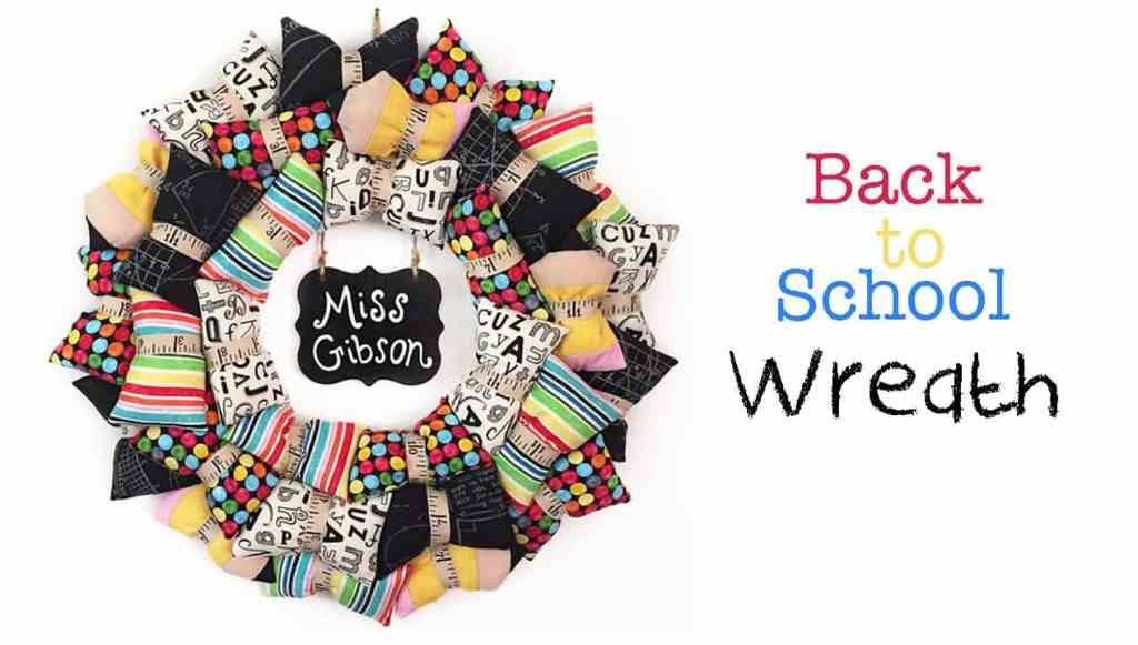 Back to School Teacher Pillow Wreath Featured Image