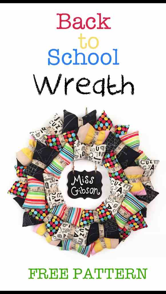 Back to School Wreath Free Pattern