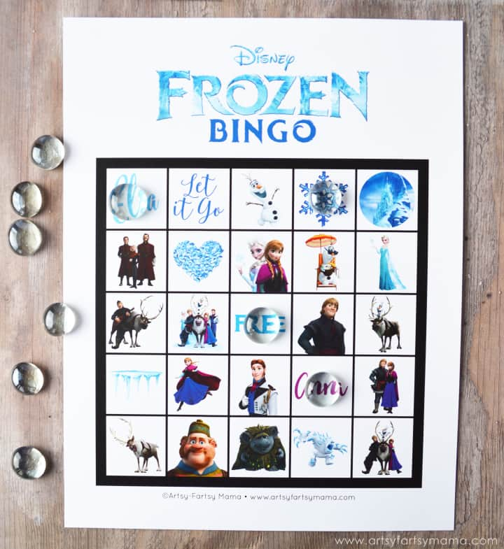 frozen-bingo-cards-at-artsy-fartsy-mama