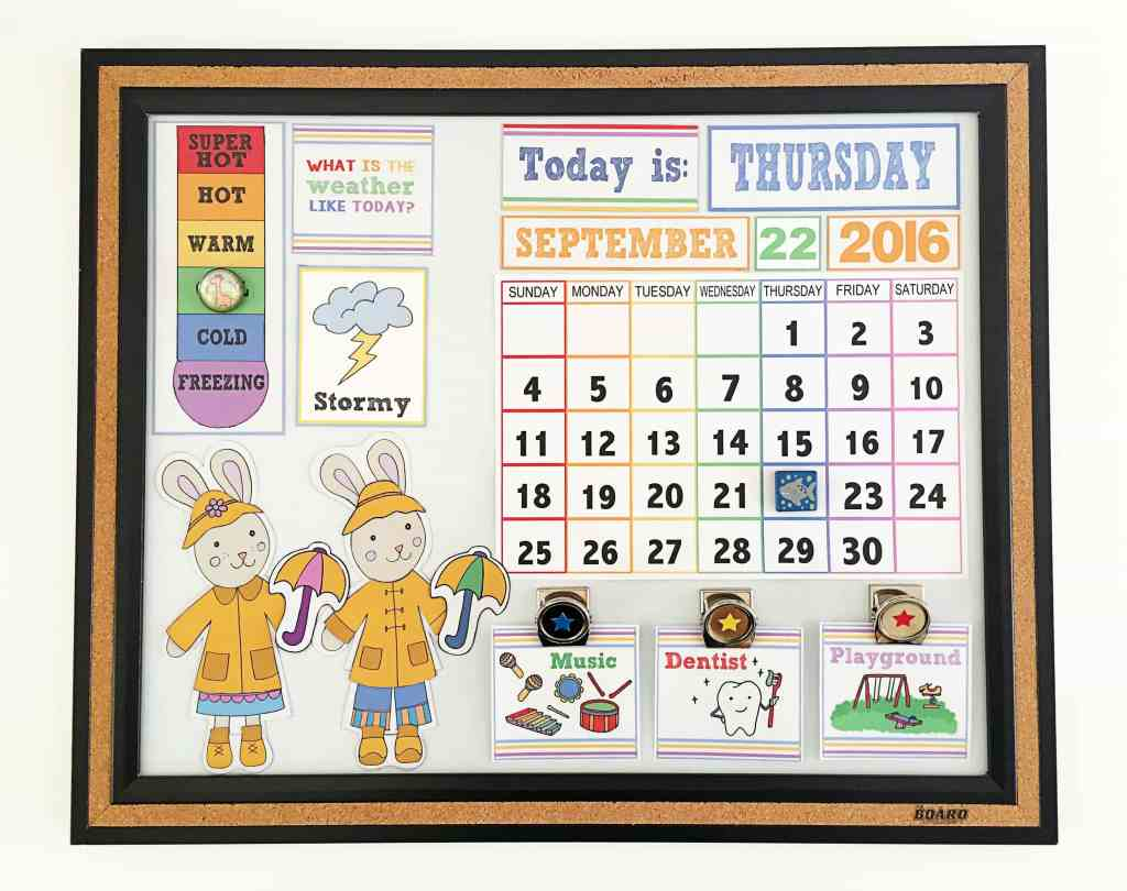 Diy Kids Calendar : Diy children s calendar with free printables bugaboocity
