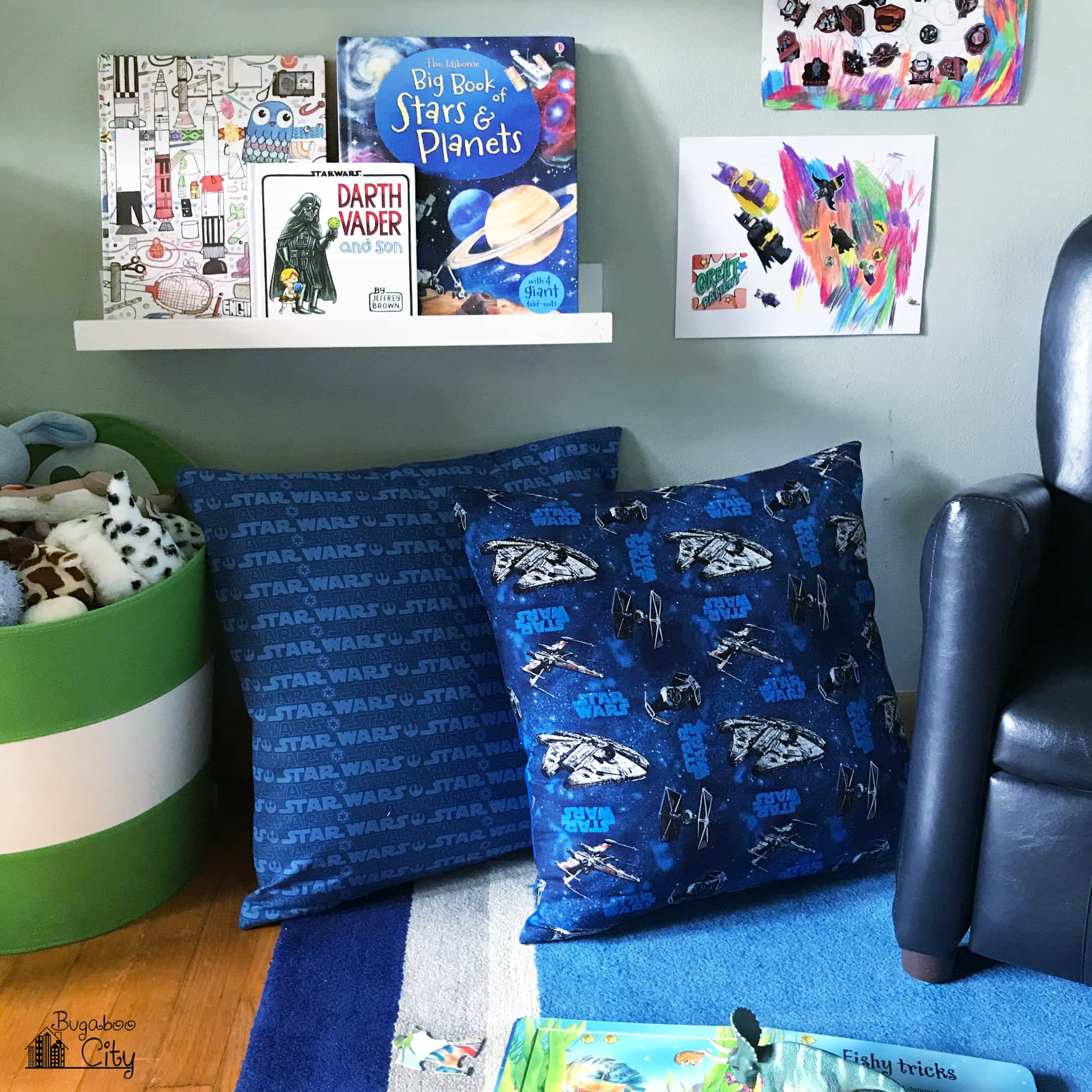 I created the patterns for these pillows in Photoshop which is something new for me as I usually draw my patterns by hand first and then move them into ... & DIY Star Wars Pillows - Felt Applique - BugabooCity pillowsntoast.com