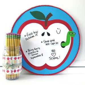 Apple Dry-Erase Board