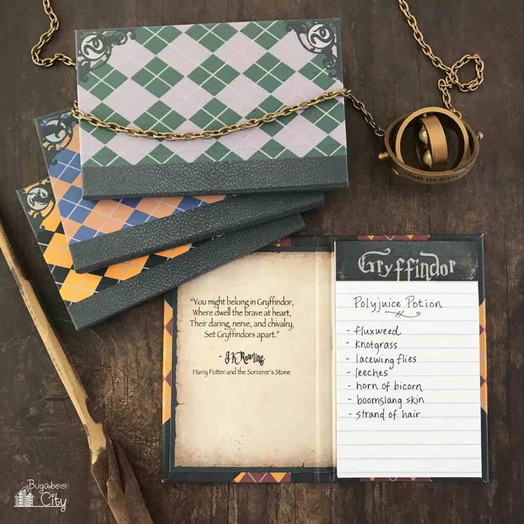DIY Harry Potter Notepads - Free Printables!