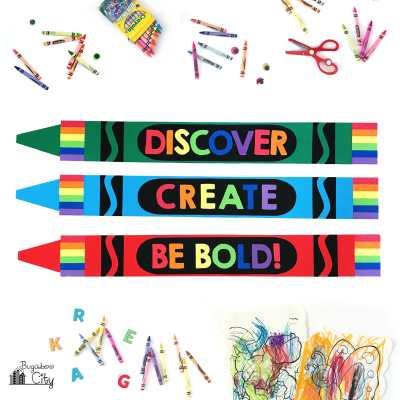 Giant Paper Crayon Decor