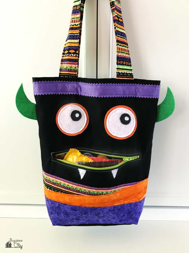 DIY Monster Treat Bag with Free Printable Pattern!