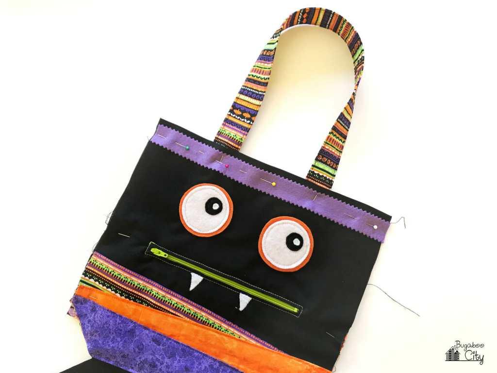 DIY Monster Treat Bag with Free Printable Pattern!