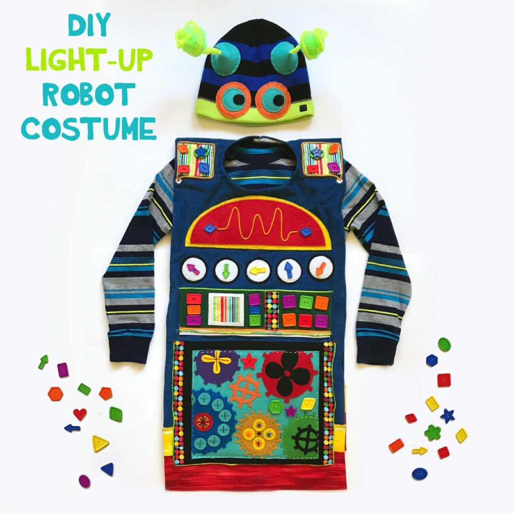DIY Kid's Halloween Costume - Light Up Robot