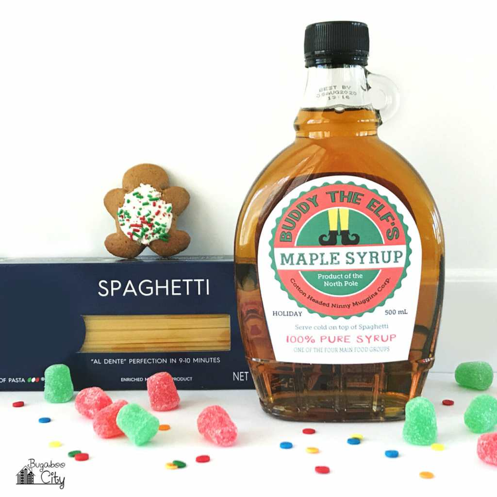Buddy the Elf Syrup Label - Free Printable Holiday Gift!