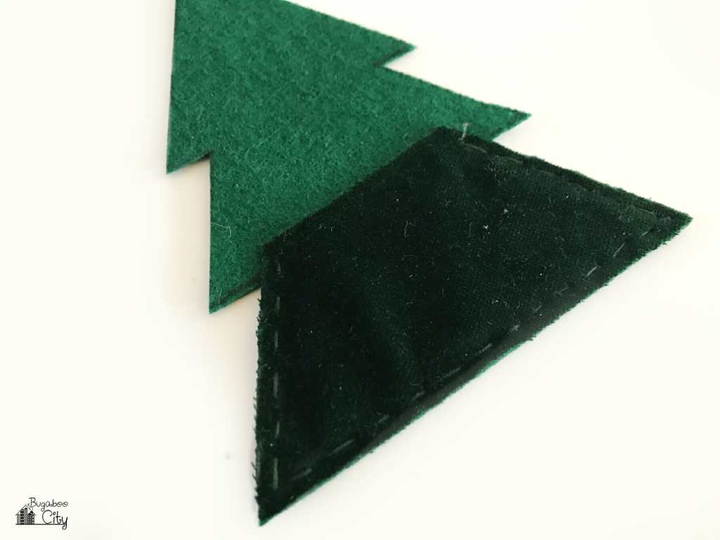 DIY Christmas Tree Banner from Fabric Scraps - Free Template!