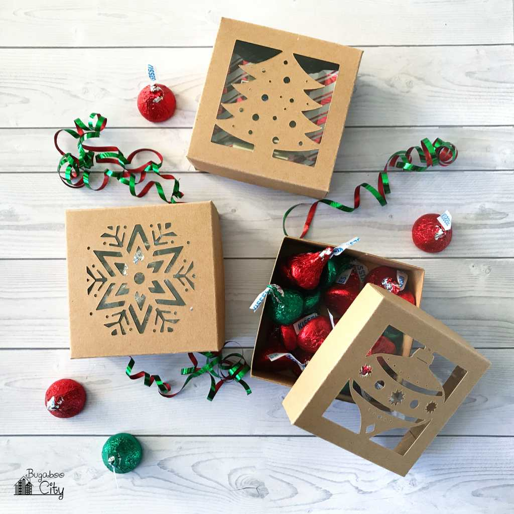 DIY Christmas Treat Boxes with Free Cut File