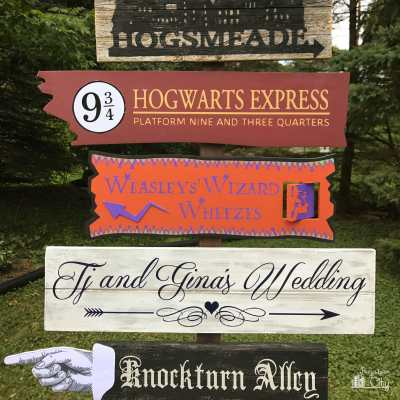 DIY Harry Potter Directional Sign Part 1