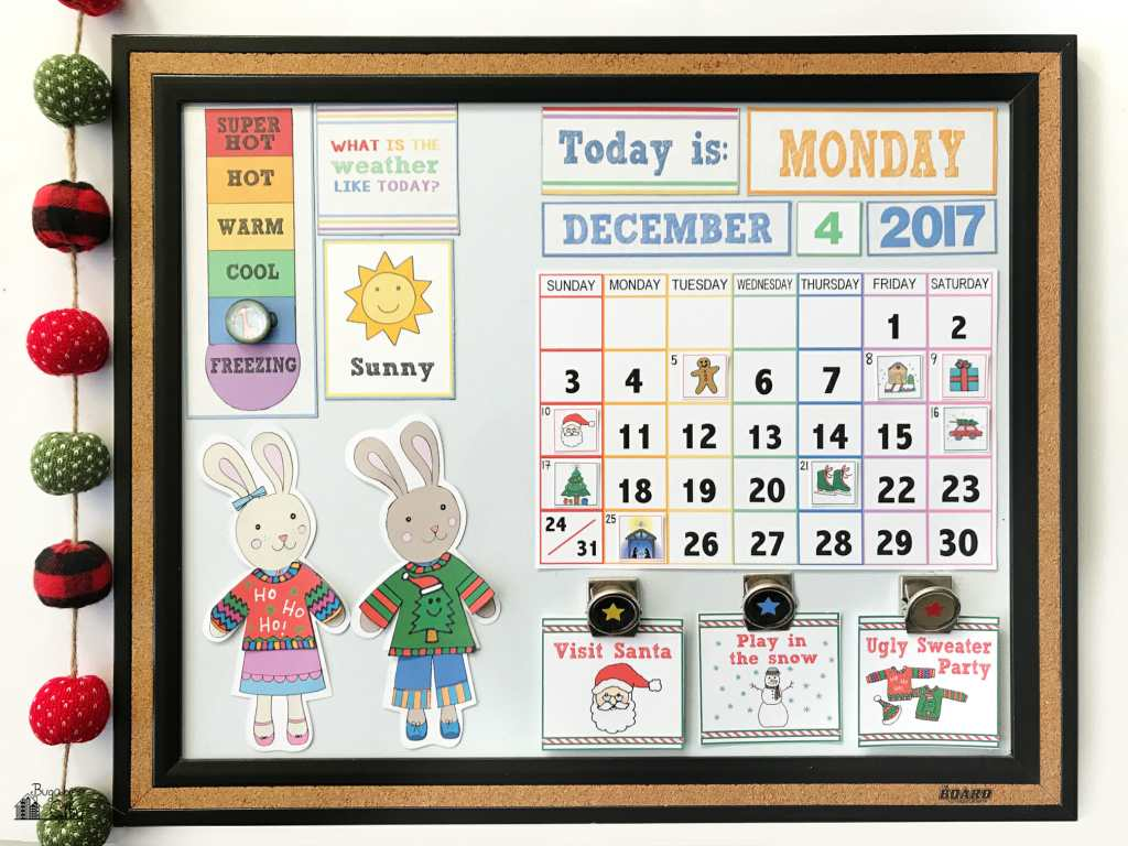 Children's Calendar Christmas Activity Cards