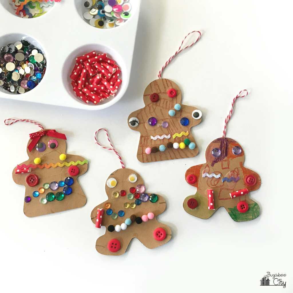 gingerbread men ornaments kids craft