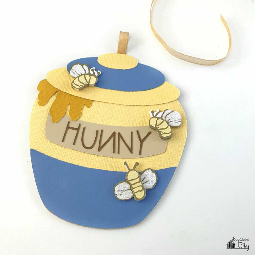 Winnie the Pooh Honey Pot Card and Party Invitation - Free Pattern and Cut File