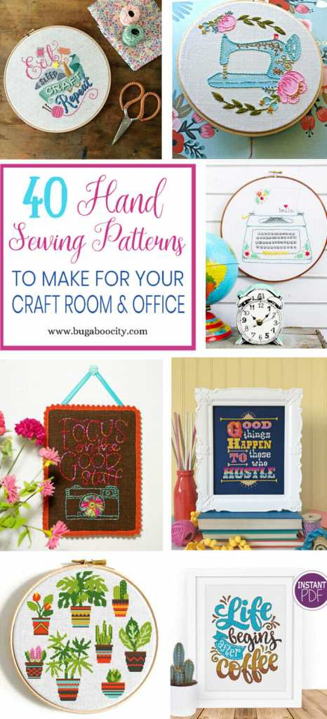 40 Hand Sewing Patterns to Make for Your Craft Room or Office ...