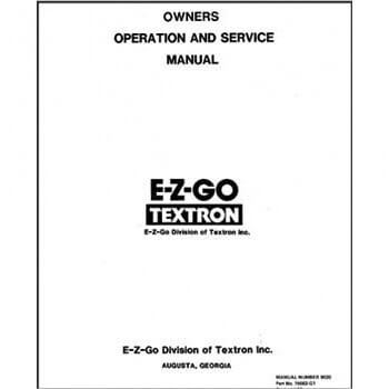 E-Z-GO Service Manual (Fits 1987)
