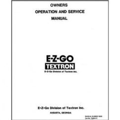 Yamaha G1 Golf Cart Wiring Diagram Electricity Electronics And Diagrams For Hvac E-z-go Marathon Service Manual (fits 1989-1993)