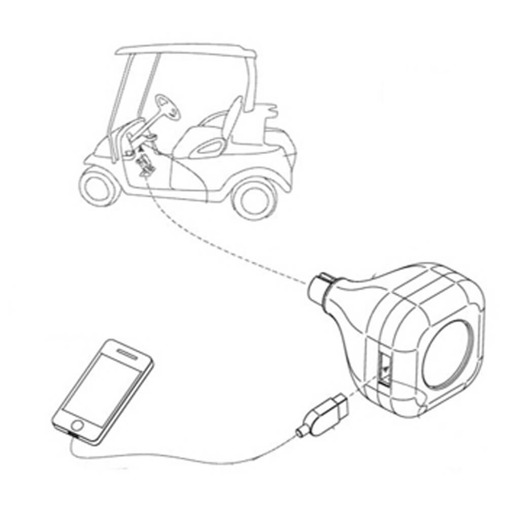 Club Car IQ Gimmecharge USB Charging Port (Fits 2003-Up)