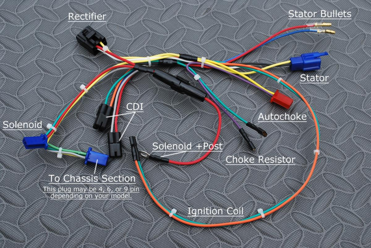 gy6 wiring harness diagram 1966 ford mustang ignition howhit electric