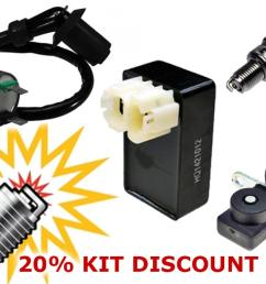 ac ignition tune up kit cdi coil spark plug sensor  [ 1200 x 802 Pixel ]