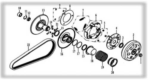 small resolution of hammerhead 250ss super sport clutch assembly