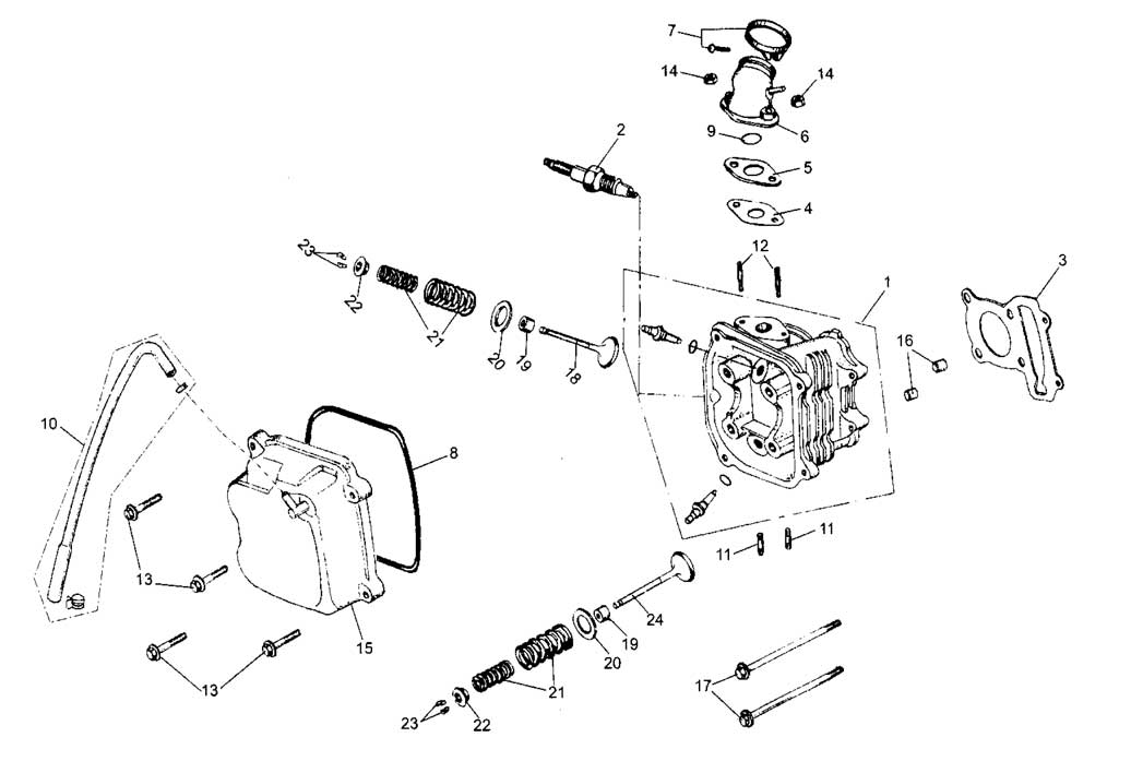 Gy6 150Cc Engine Diagram : Diagram Download 250cc Scooter